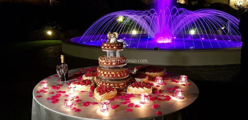 Taglio torta alla fontana