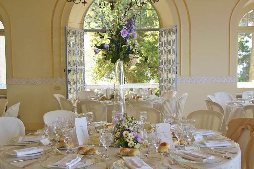La tavola decorata