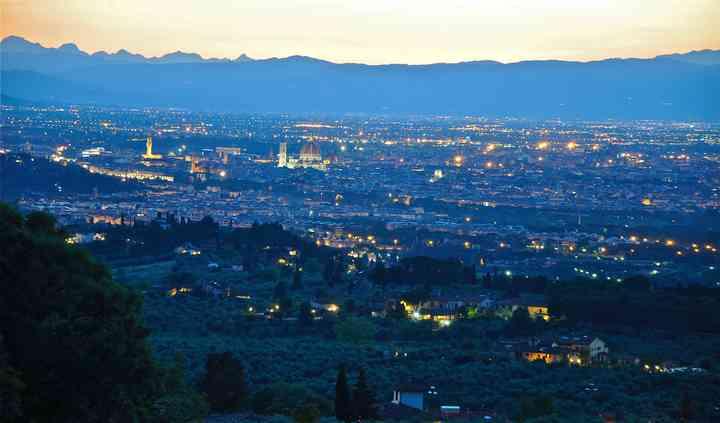 La vista su Firenze