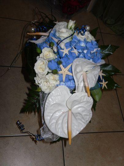 Bouquet mare con stelle marine
