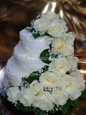 Wedding rose bianche