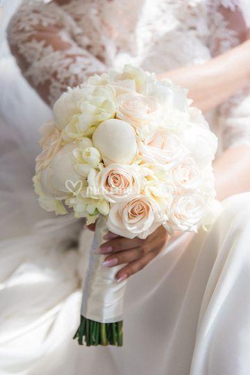 Bouquet peonie e rose
