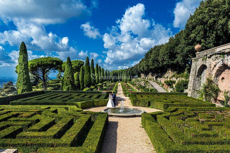 Matrimonio Giardini Vaticani