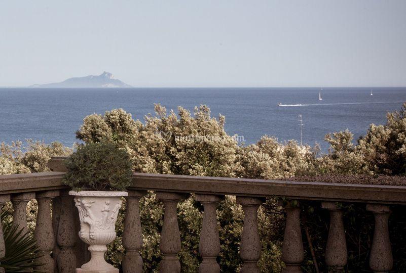 Il panorama sul Circeo
