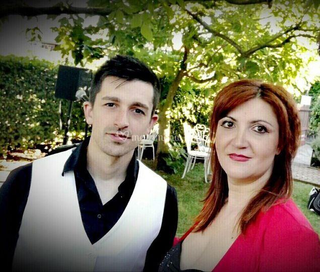 Con il chitarrista Stefano