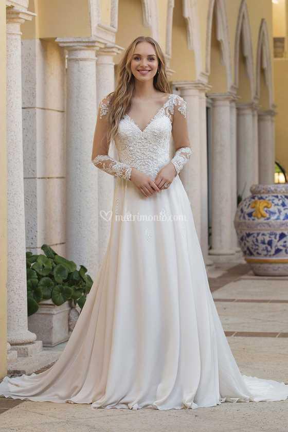 Vestiti Da Sposa Shabby.Abito Da Sposa Con Maniche Di Marisa Spose Foto 11