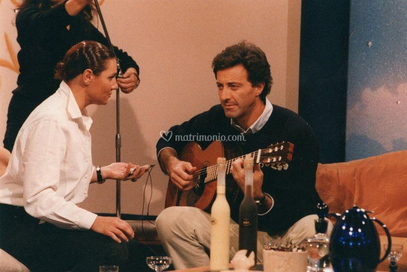 Con Luca Barbareschi