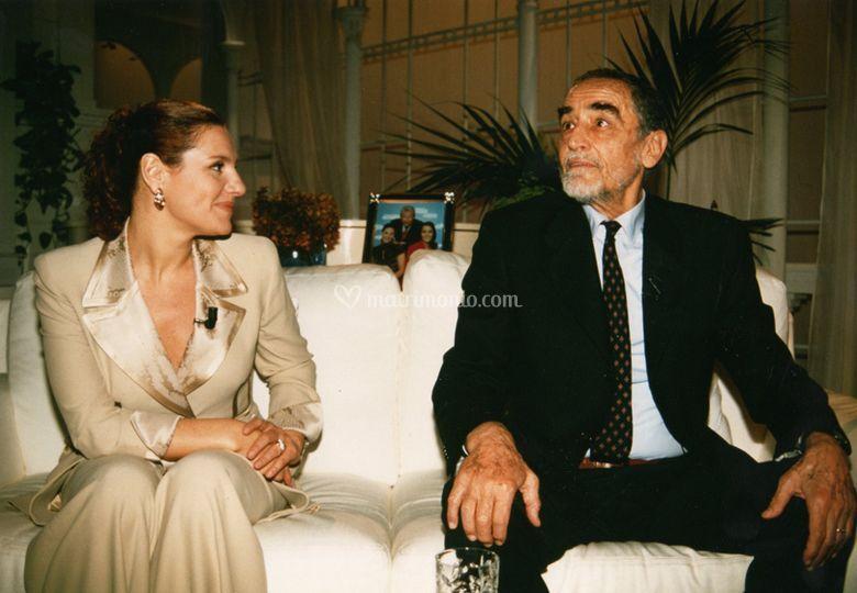 Con Vittorio Gassman