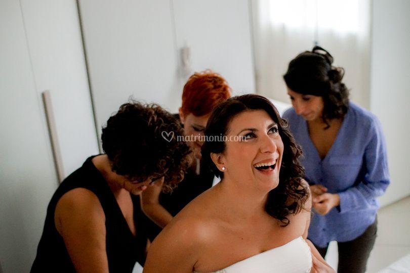 Vestizione della sposa