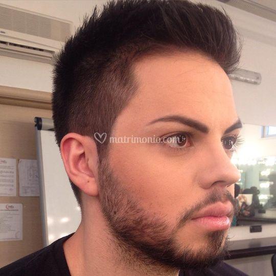 Wedding man makeup