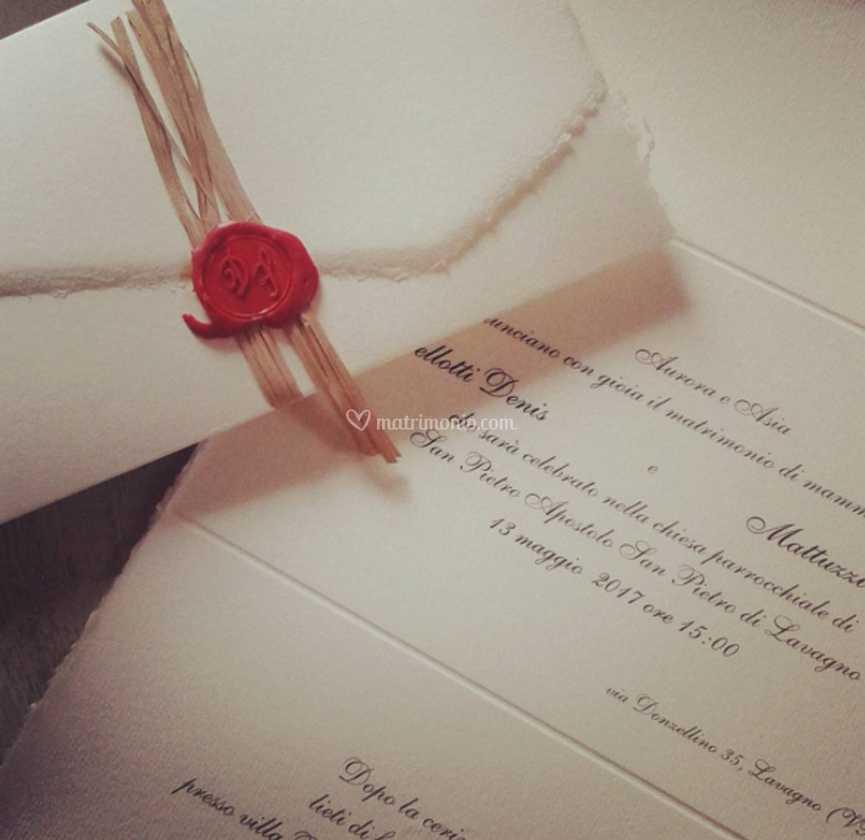 Partecipazioni Matrimonio Ceralacca.Partecipazioni Con Ceralacca Di Partecipazioni Per Matrimonio