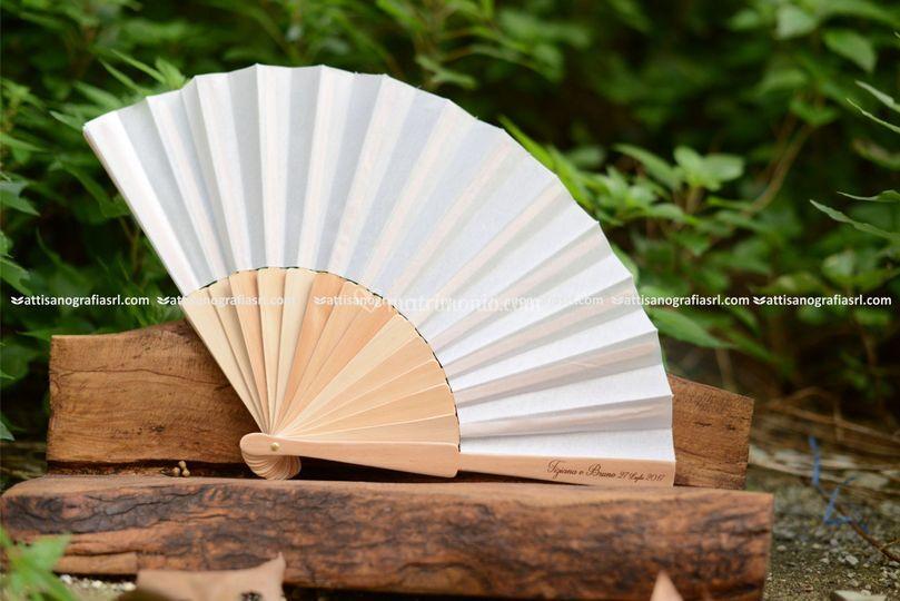 Ventagli legno e  stoffa
