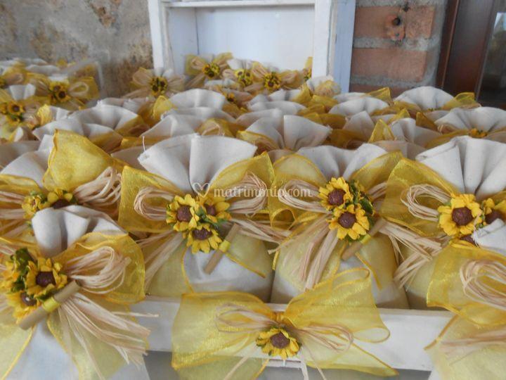 Bomboniere Matrimonio Girasoli : Bomboniere matrimonio girasoli di naturali con