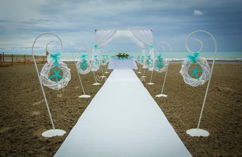 Stormy beach ceremony