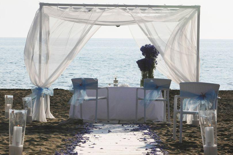 Beach wedding cerimony