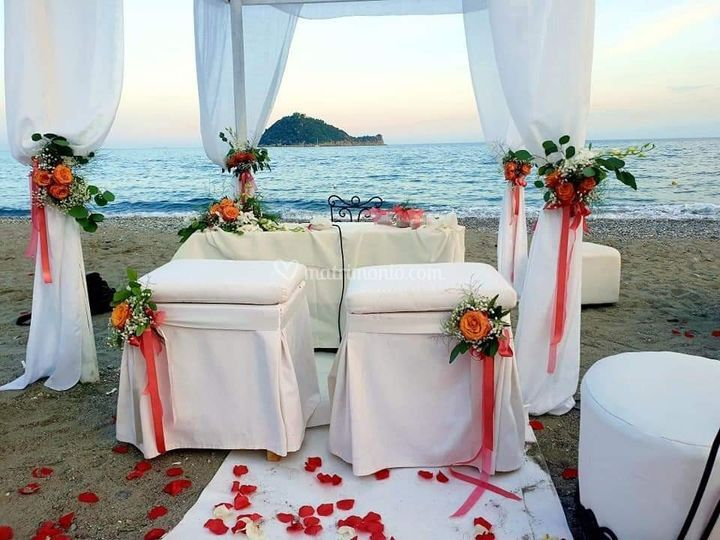 Matrimonio romantico al mare