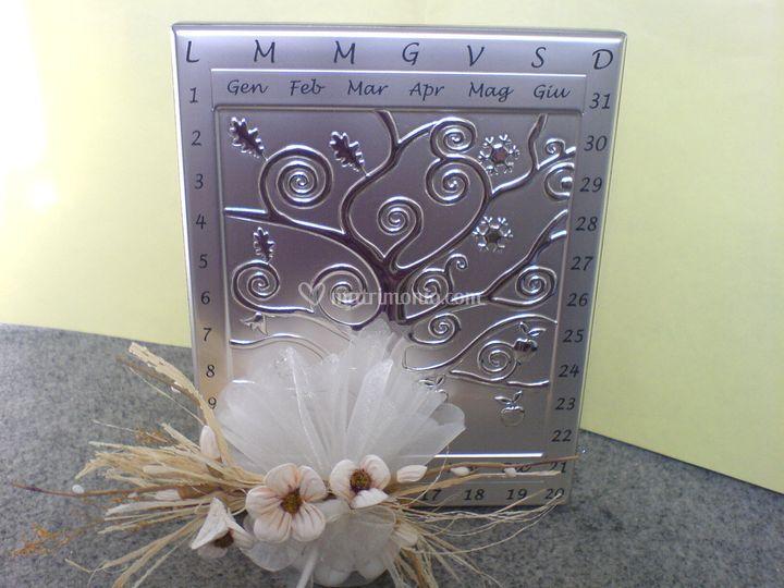 Calendario perpetuo argento