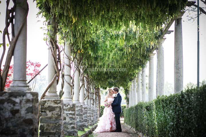 Romantico Viale colonnato