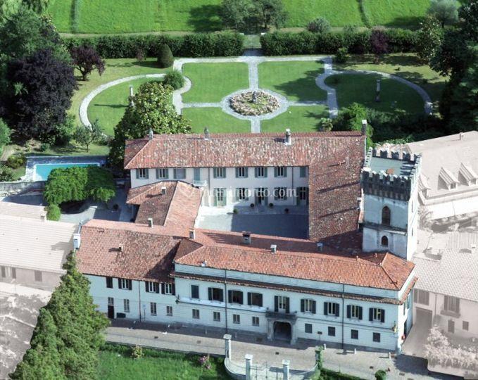 Villa bossi - veduta aerea