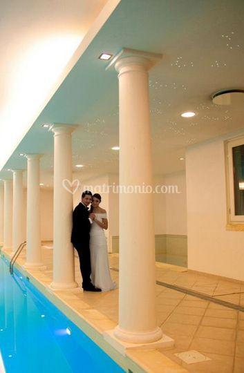 Fotoarte di fotoarte foto for Matrimonio bordo piscina
