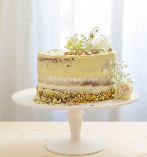 Naked cake al pistacchio