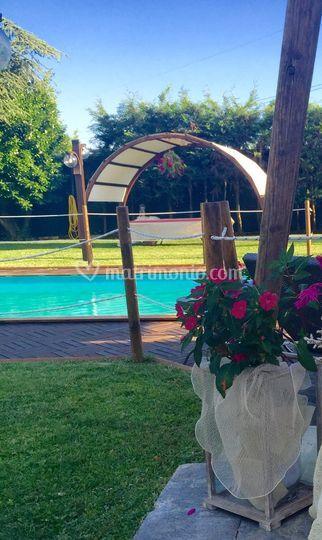 Dettaglio della piscina