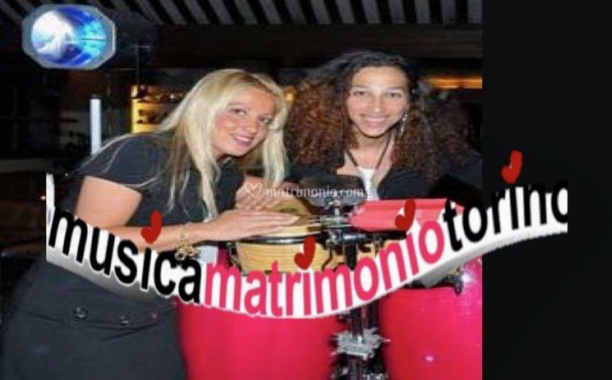 Donatella e percussioni di MusicaMatrimonioTorino