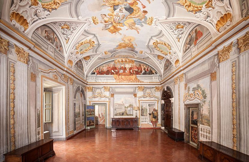 Il salone del Piano Nobile