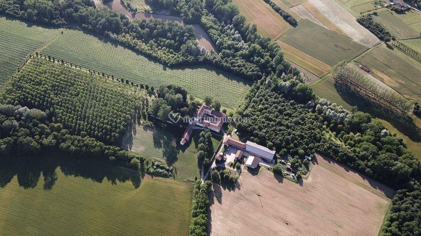 La proprietà vista dall'alto