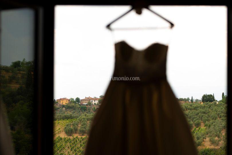 Dettaglio vestito sposa