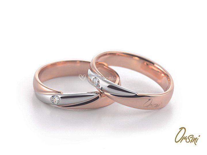Fedi in oro bianco e rosa