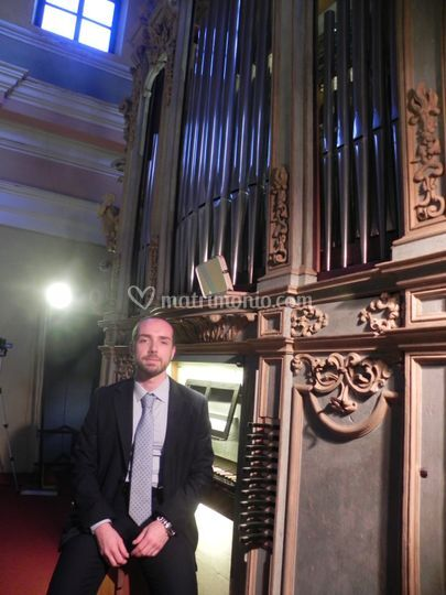 Fabio castello all'organo