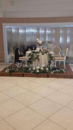 Addobbo tavolo degli sposi
