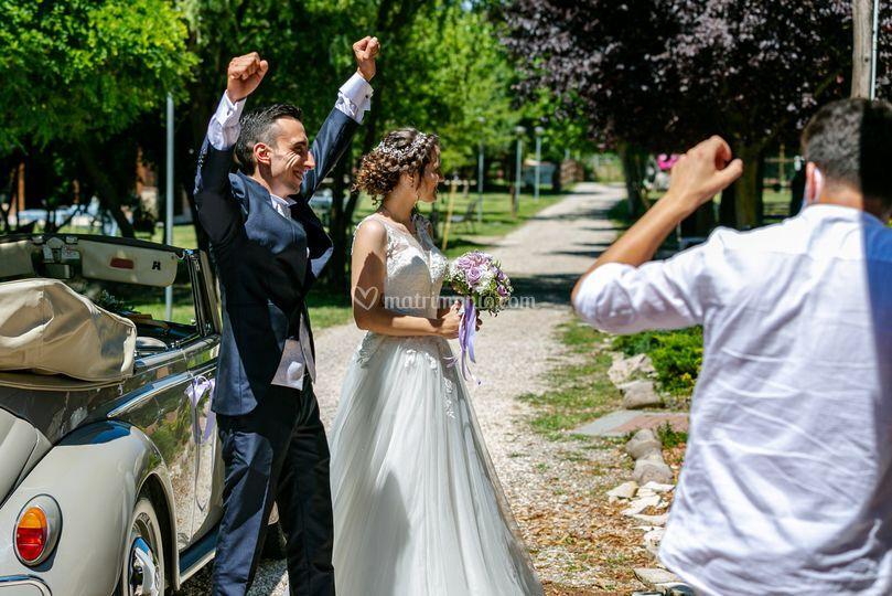 L'arrivo degli sposi