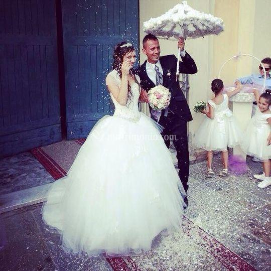 Ombrello fiori carta