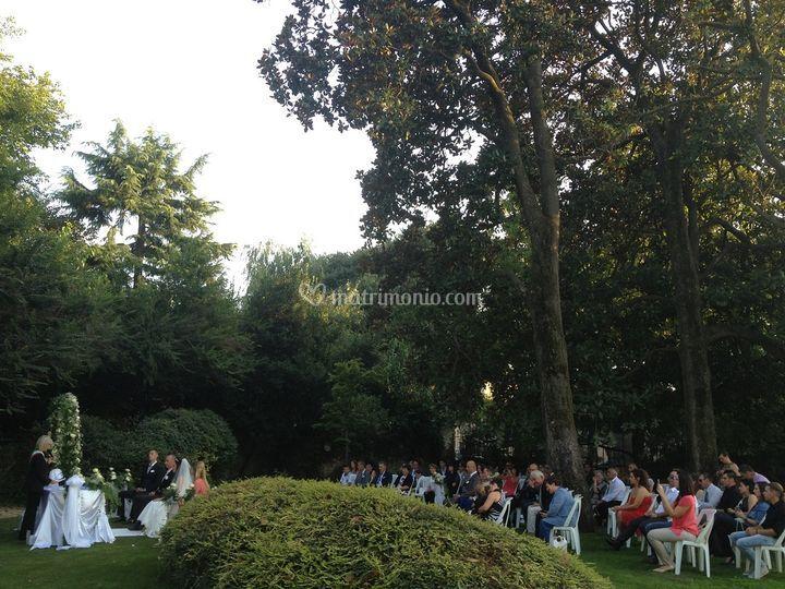 Cerimonia nel parco