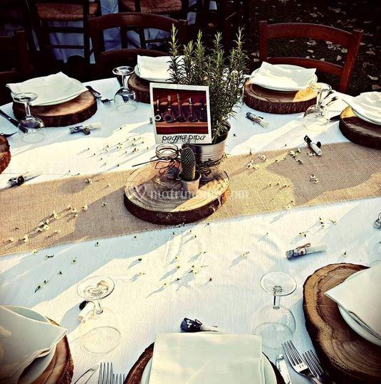 Allestimento Tavoli sul Prato