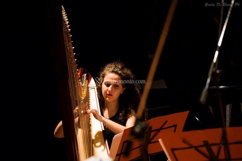 L'arpista Sonia Crisante