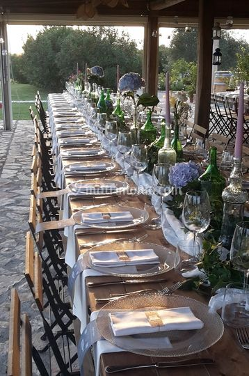 Matrimonio Country Toscana : Allestimento country chic di catering cerinella foto