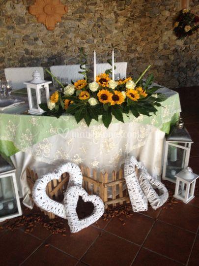 Tavolo Matrimonio Girasoli : Arredo verde