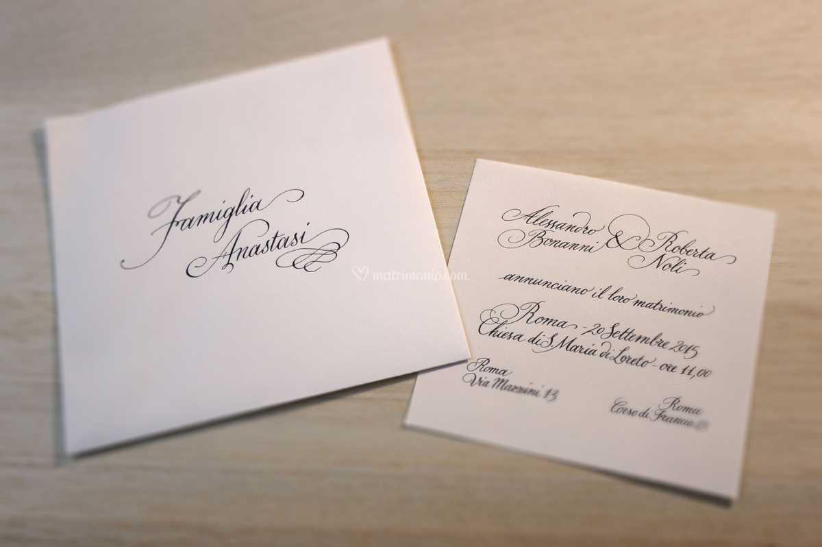 Buste Partecipazioni Matrimonio.Busta E Partecipazione Inglese Di Calligrafico Foto 9