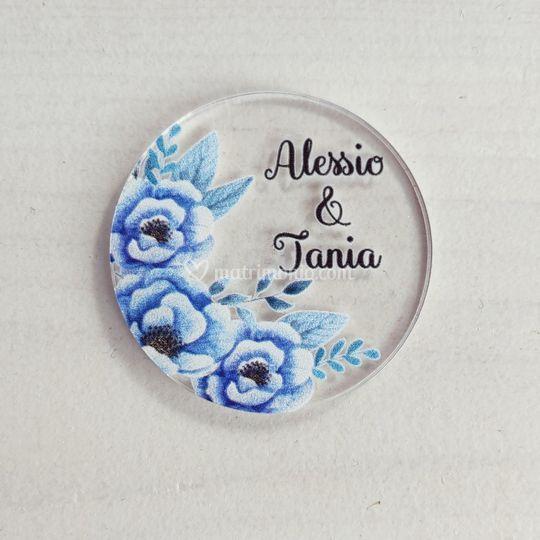 Tag fiori Blu
