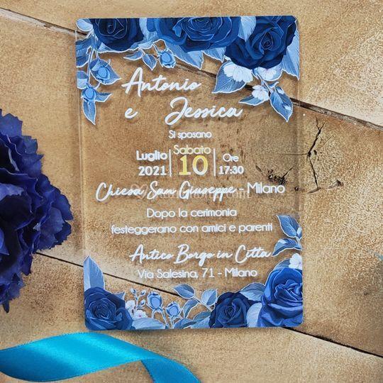 Partecipazione Rose Blu