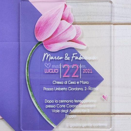 Partecipazione Tulipano Rosa