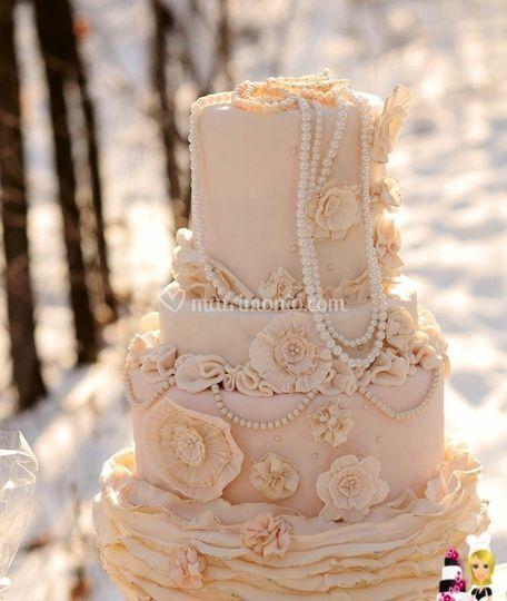 Wedding cake dettagliata