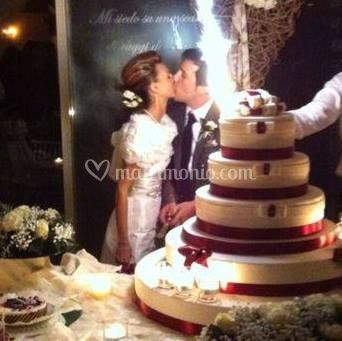 Wedding cake con gli sposi