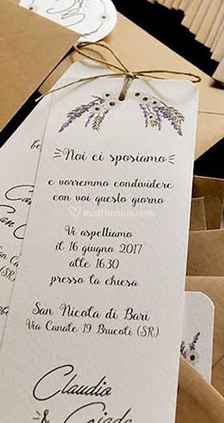 Partecipazioni Matrimonio Segnalibro.Partecipazione Segnalibro Di Life Style Wedding Foto 27
