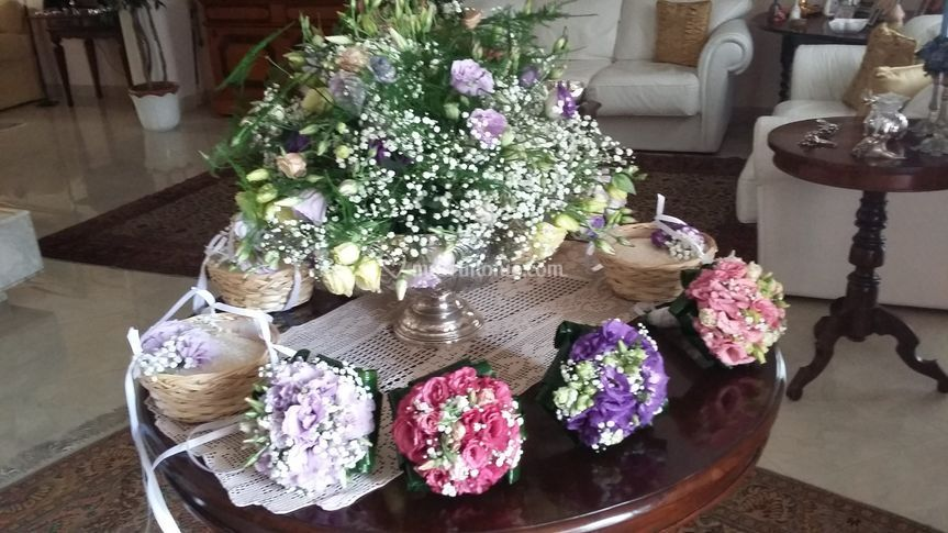 Bouquet damigelle e portariso