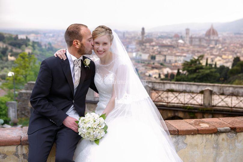 Il muretto su Firenze