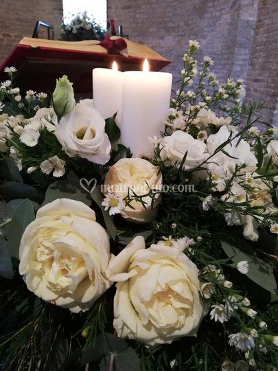 Rose inglesi e candele